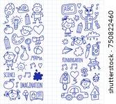 school  kindergarten. happy...   Shutterstock .eps vector #750822460
