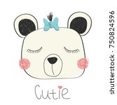 Cutie Little Bear With Blue Bow....