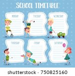 school timetable. education... | Shutterstock .eps vector #750825160