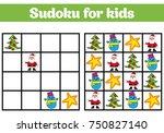 sudoku game for children with... | Shutterstock .eps vector #750827140