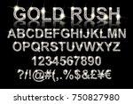 gold rush. silver alphabetic... | Shutterstock .eps vector #750827980