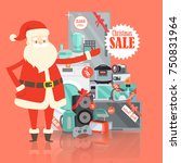 christmas big sale from santa... | Shutterstock .eps vector #750831964