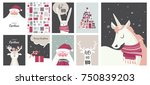 merry christmas cards ... | Shutterstock .eps vector #750839203