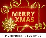 merry christmas white... | Shutterstock .eps vector #750840478