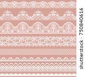 Horizontally Seamless Pink Lace ...