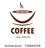 coffee logo template | Shutterstock .eps vector #750844558