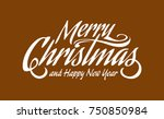 white text marry christmas and...   Shutterstock .eps vector #750850984