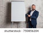 a teacher or business coach is... | Shutterstock . vector #750856204