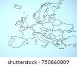 europe 3d   Shutterstock . vector #750860809