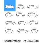 car icons | Shutterstock .eps vector #750861838