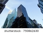 low angle view of skyscrapers... | Shutterstock . vector #750862630