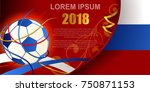 russian red background  world... | Shutterstock .eps vector #750871153