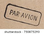 post stamps. aviation small... | Shutterstock . vector #750875293