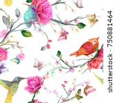 vintage seamless floral pattern ... | Shutterstock .eps vector #750881464