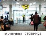 blur image of modern airport... | Shutterstock . vector #750884428