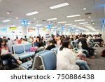 blur image of modern airport... | Shutterstock . vector #750886438