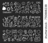 school  kindergarten. happy...   Shutterstock .eps vector #750888238