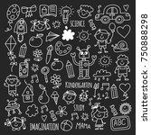 school  kindergarten. happy...   Shutterstock .eps vector #750888298