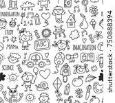 seamless pattern school ...   Shutterstock .eps vector #750888394