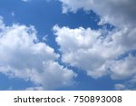 blue sky with white clouds. | Shutterstock . vector #750893008