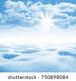 winter background. winter...   Shutterstock . vector #750898084
