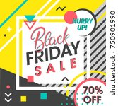black friday sale banner.... | Shutterstock .eps vector #750901990