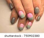 nail art manicure wallpaper ... | Shutterstock . vector #750902380