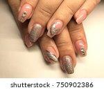 nail art manicure wallpaper ... | Shutterstock . vector #750902386