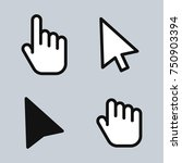mouse cursor arrow hand. icons... | Shutterstock .eps vector #750903394