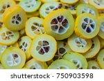 yellow quince background.... | Shutterstock . vector #750903598