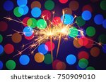 holiday dynamic postcard. two... | Shutterstock . vector #750909010