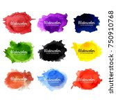 abstract colorful watercolor... | Shutterstock .eps vector #750910768