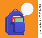 school bag vector illustration | Shutterstock .eps vector #750914209