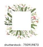merry christmas. winter... | Shutterstock . vector #750919873