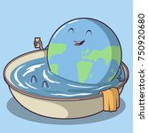 earth cooling down vector... | Shutterstock .eps vector #750920680