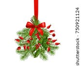 hanging bunch of christmas and... | Shutterstock .eps vector #750921124
