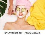 spa procedures  cosmetology ... | Shutterstock . vector #750928636