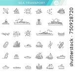 ships   set of modern vector... | Shutterstock .eps vector #750928720