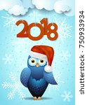 new year background with cute...   Shutterstock .eps vector #750933934