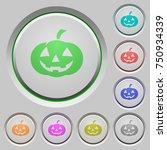 halloween pumpkin color icons... | Shutterstock .eps vector #750934339