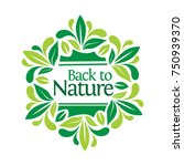 lettering back to nature in... | Shutterstock .eps vector #750939370