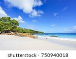 picturesque dream beach with... | Shutterstock . vector #750940018