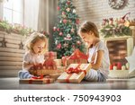 merry christmas and happy... | Shutterstock . vector #750943903