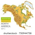 north america physical map... | Shutterstock .eps vector #750944758