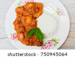 typical dish from ayacucho... | Shutterstock . vector #750945064