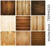 realistic wooden floor texture... | Shutterstock .eps vector #750946210