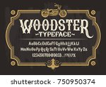 vector white serif font  the... | Shutterstock .eps vector #750950374
