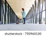 beautiful young woman smiling...   Shutterstock . vector #750960130