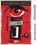 thriller movies marathon retro... | Shutterstock .eps vector #750962440