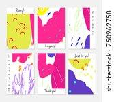 hand drawn creative universal... | Shutterstock .eps vector #750962758